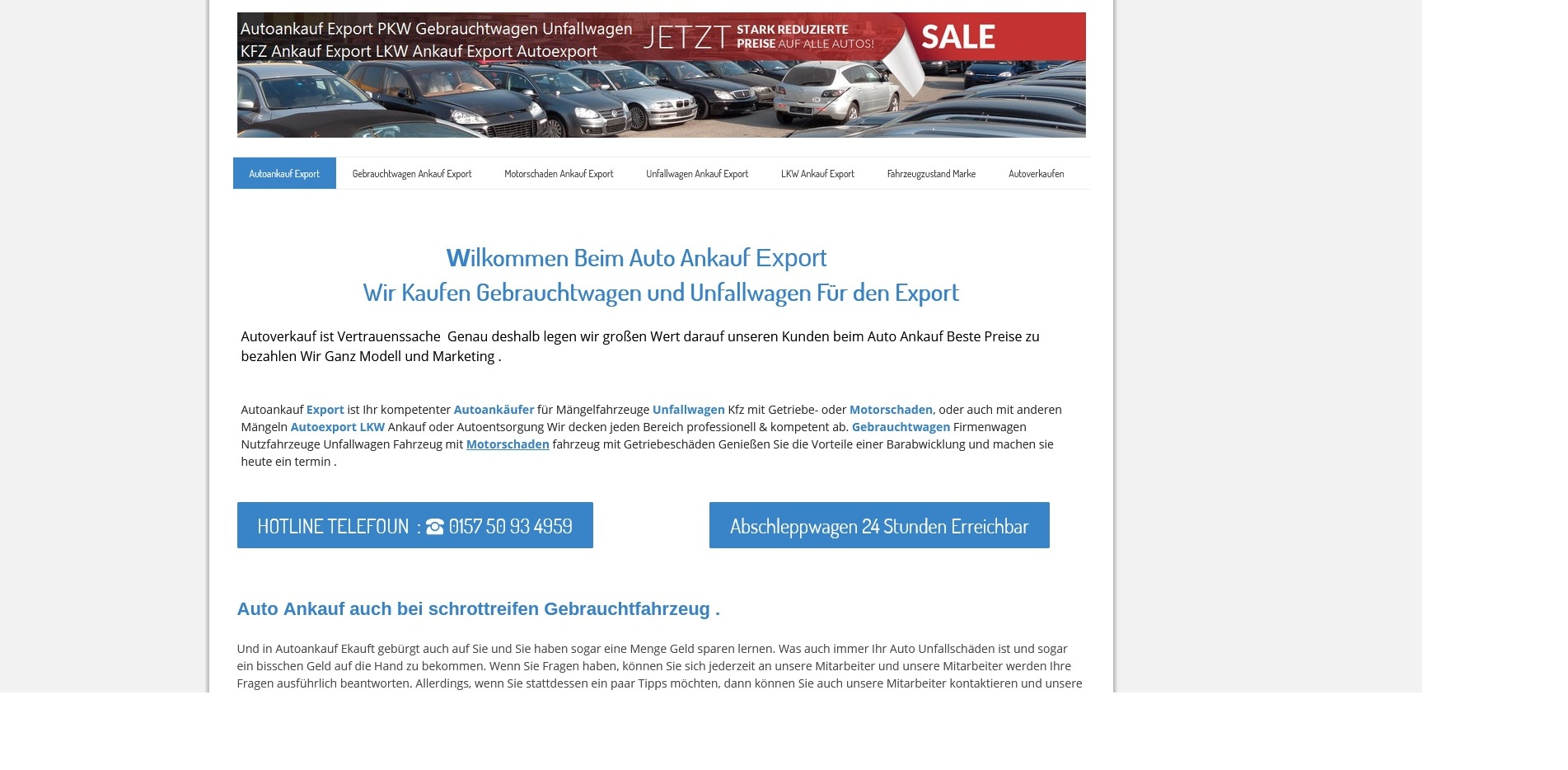 Kfz-Ankauf-export.de | Autoankauf Gotha | Autoankauf Export Gotha