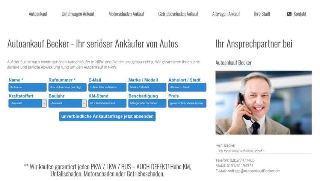 Auto Verkaufen Köln : autoankauf becker k ln auto verkaufen in k ln pr f r automobilbranche ~ Aude.kayakingforconservation.com Haus und Dekorationen