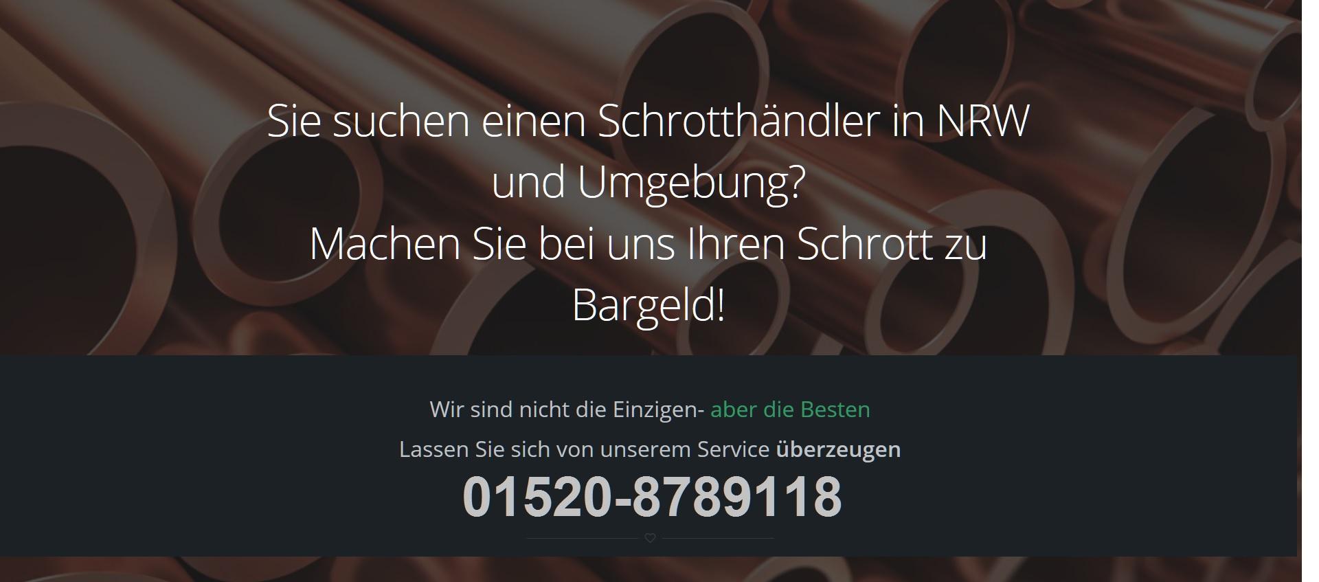Schrottabholung wüppertal - Schrotthändler NRW